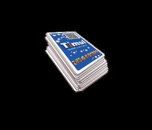 paquet 32 cartes vue dos timul