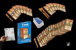 vue éclatée jeu de cartes timul azawak editions